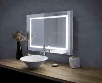 Lighted bathroom mirrors