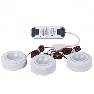 LED-downlight 3-set + trafo