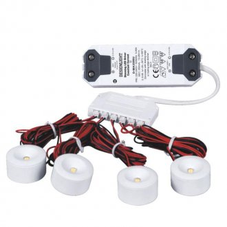 Mini-downlights 4-set + trafo