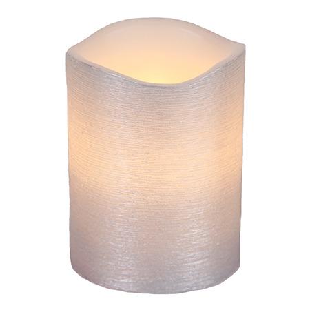 LED Blockljus Linda 10cm (Silver)