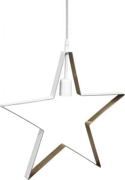 Twice Star vit/mässing 45cm