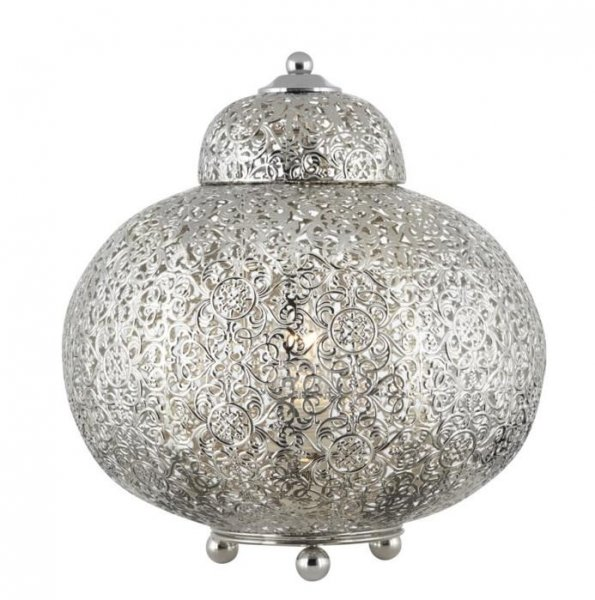 Moroccan bordlampa nickel