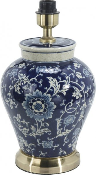 Fang Hong mörkblå lampfot 38cm (Blå)