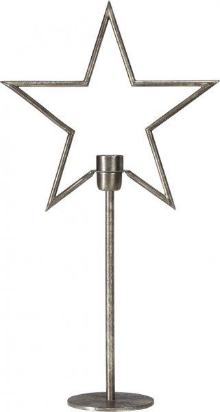Tindra på fot 65cm (Silver)