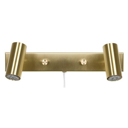 Cato dubbel LED läslampa (Mässing/guld)