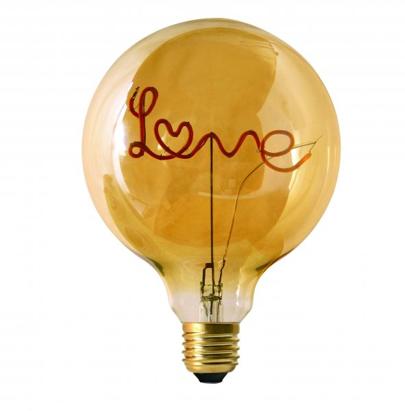 Words LED Filament Love Standing 125mm