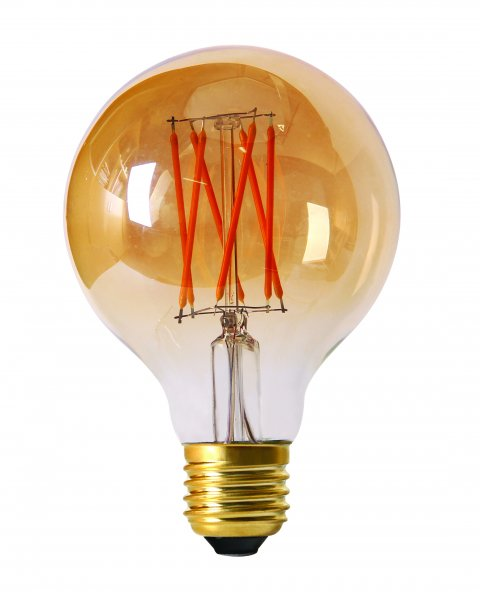 E27 Elect LED filament 80mm gold 2,5W