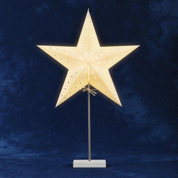 Pappersstjärna vit fot 45cm (Vit)