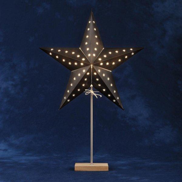 Pappstjärna ekfot svart 45cm (Svart)