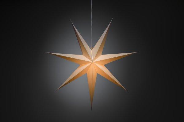 Pappersstjärna 78cm (Vit)