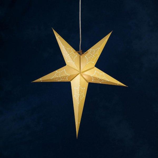 Julstjärna guld (Mässing/guld)