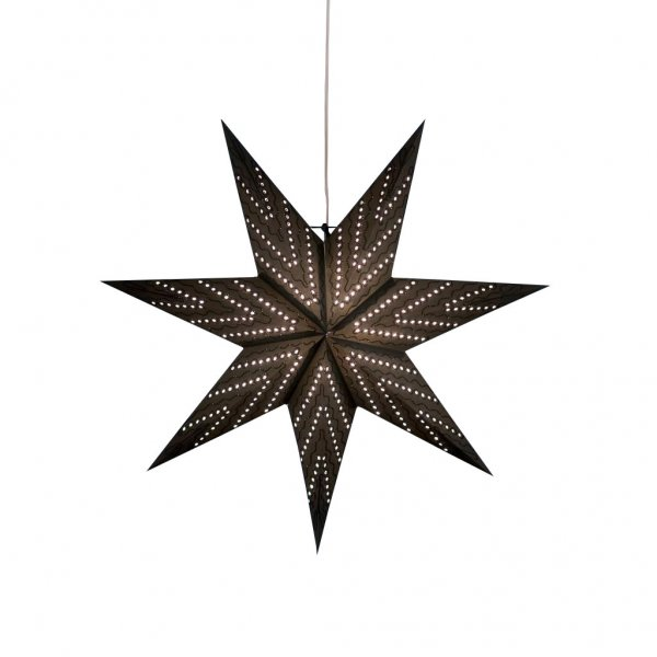 Pappersstjärna svart 60cm