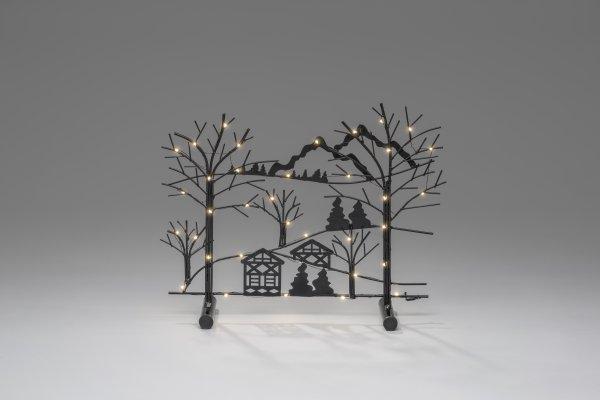 Elljusstake metall träd LED (Svart) thumbnail