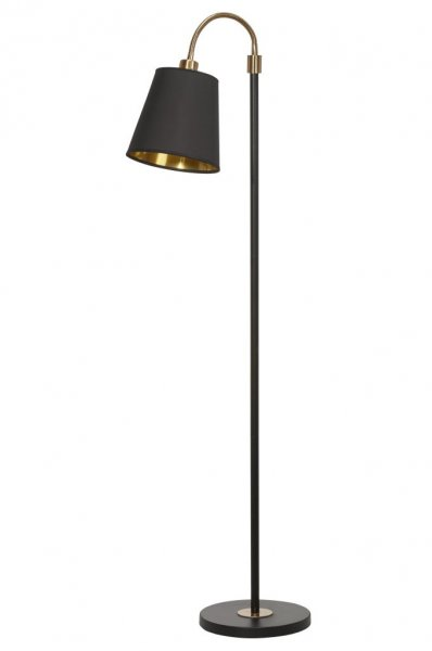 Cia 1-arm golv mässing + Cia svart/guld skärm