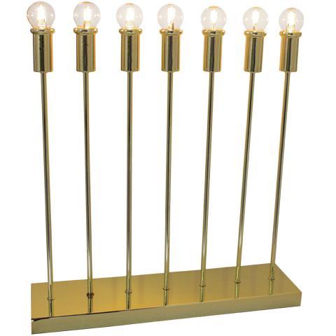 Straight bordlampa 7-låg Mässing (Mässing/guld)