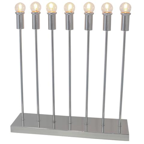 Straight bordlampa 7-låg Krom (Förkromad/blank)