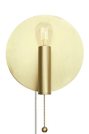 Art Deco vägglampa (Mässing/guld)