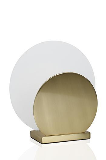Art Deco bordlampa (Antikmässing)