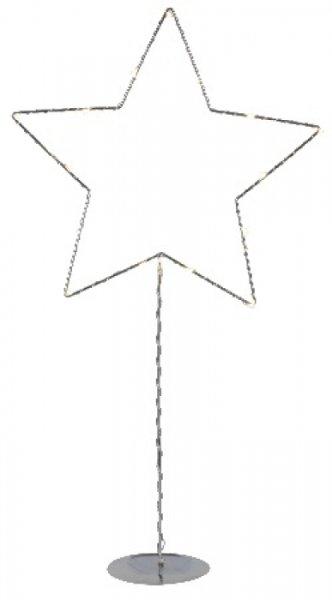 Sparkling stjärna på fot (Förkromad/blank)