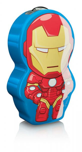 Iron Man ficklampa LED