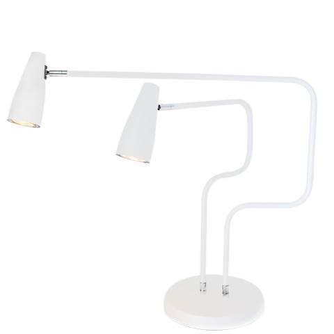 Apollo bordlampa mattvit