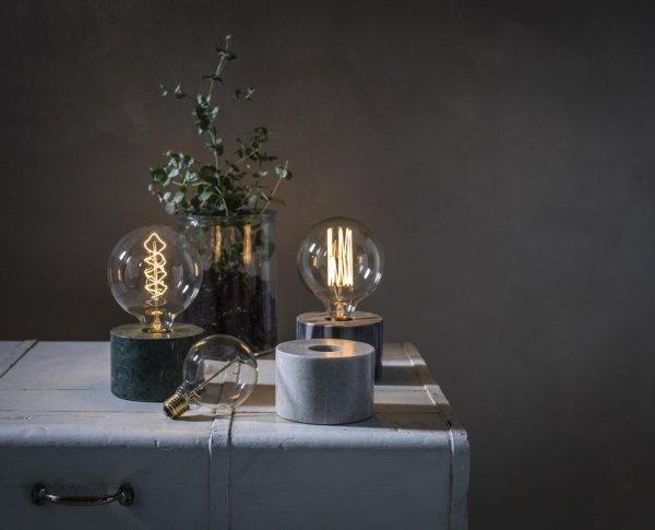 Cortona bordslampa marmor (Vit)