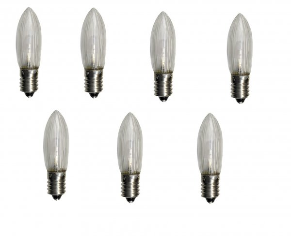 E10 7-pack LED 55V (Klar/transparent)