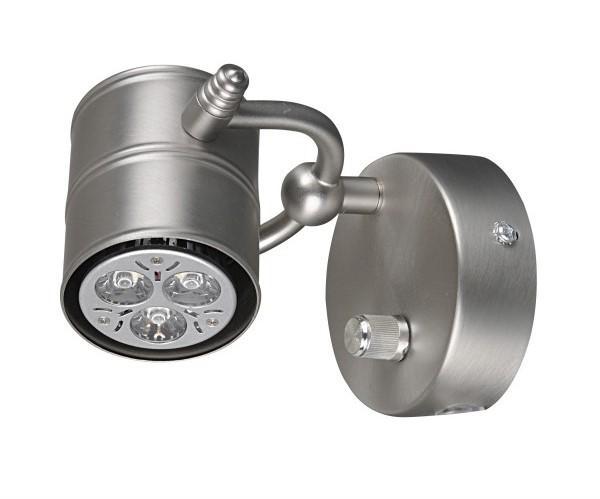 Castor enkel läslampa (Borstat stål)