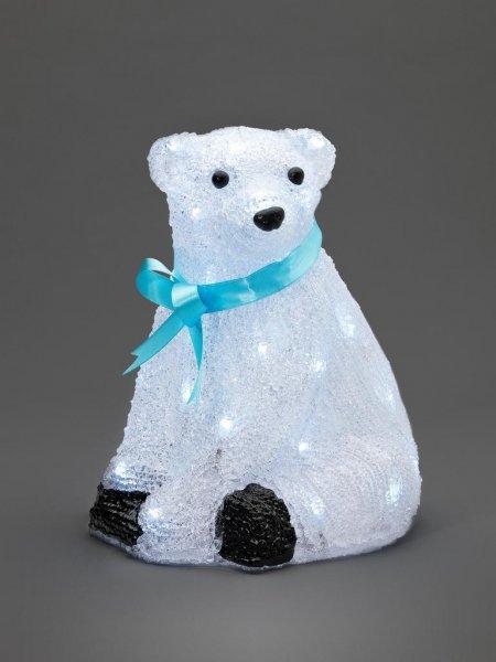 Isbjörn 40 LED 28cm (Vit)