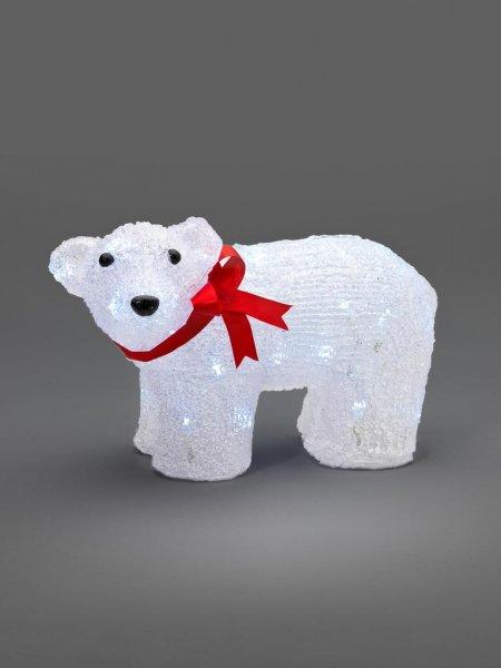 Isbjörn röd 40 LED (Vit)