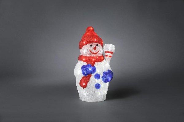 Liten snögubbe 48 LED 38cm (Röd)