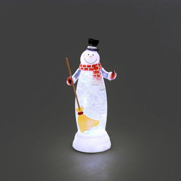 Vattenfylld snögubbe med LED (Vit)