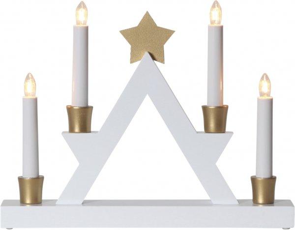Julle träljusstake 4L (Vit)