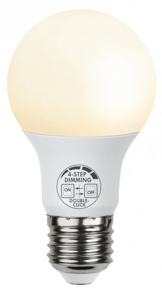 E27 LED 9W 4-stegs klickdimring
