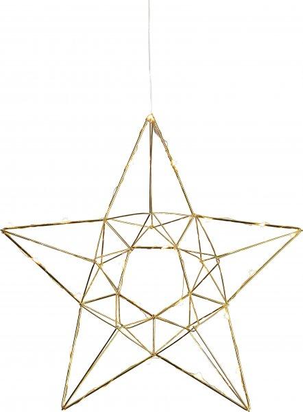 Edge metallstjärna LED (Mässing/guld)
