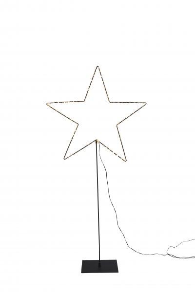 Mira stjärna på fot 100cm LED (Svart)