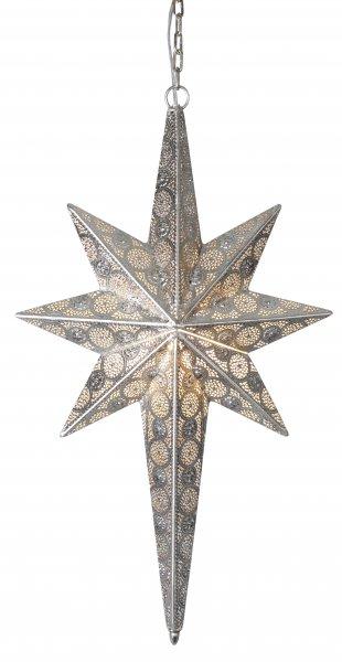 Agadir metallstjärna 67cm silver (Silver)