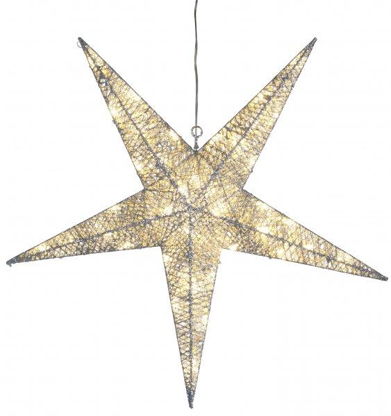 Silverstjärna utomhus 55cm (Silver)