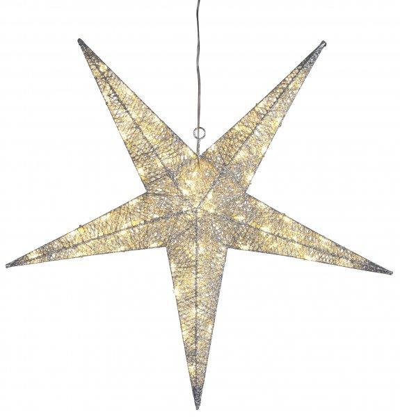 Silverstjärna utomhus 75cm (Silver)