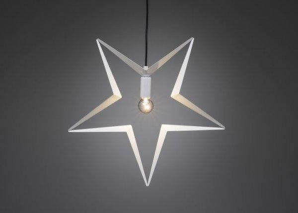 Stjärna vit hängande 45cm (Vit)