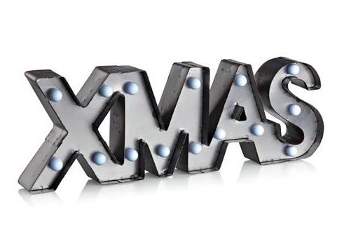 Xmas dekoration metall LED (Grå)