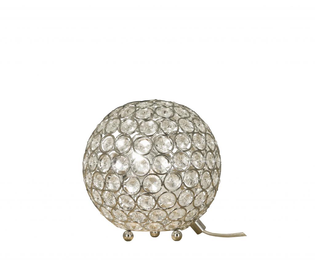 Bling bordlampa 15cm (Förkromad/blank)