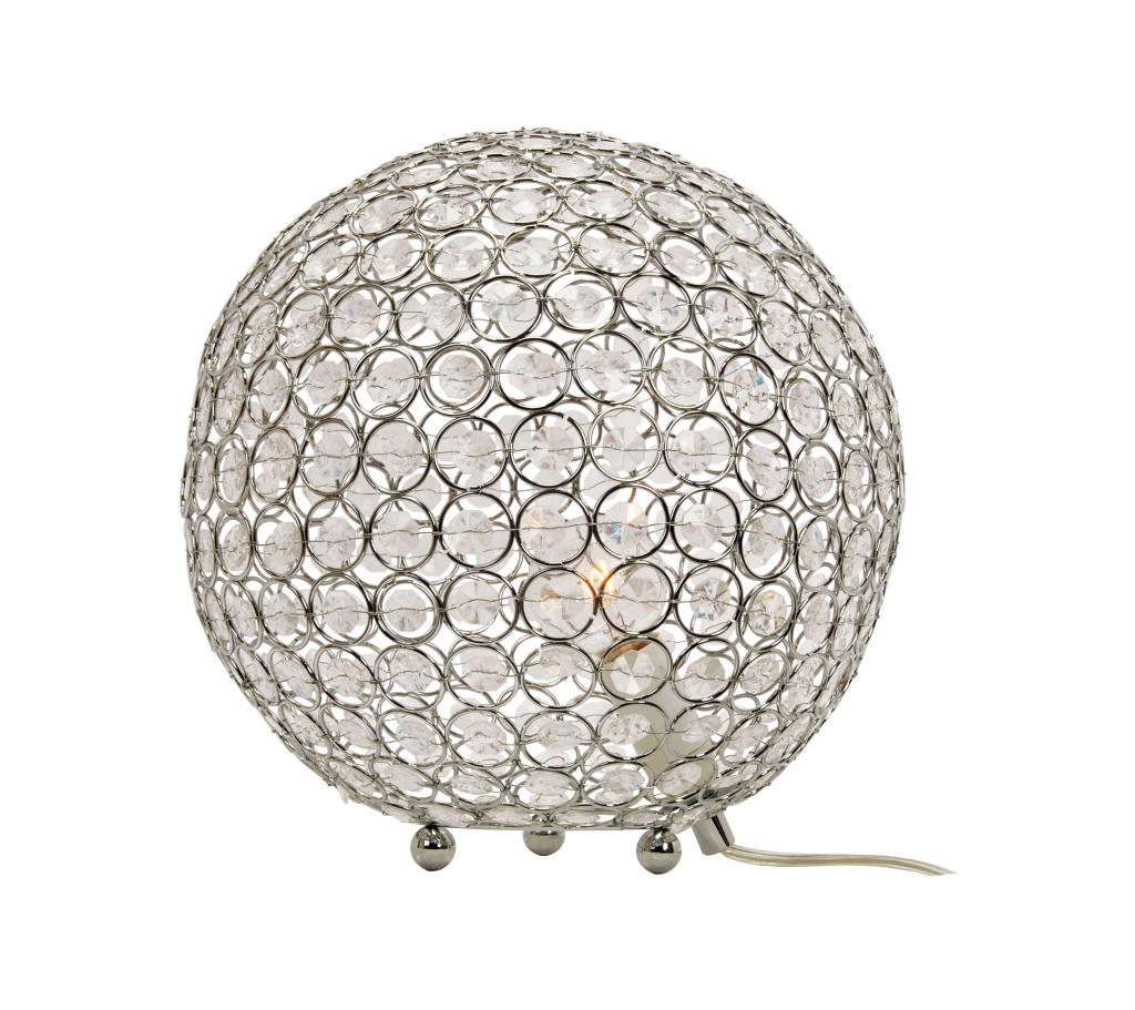 Bling bordlampa 25cm (Förkromad/blank)