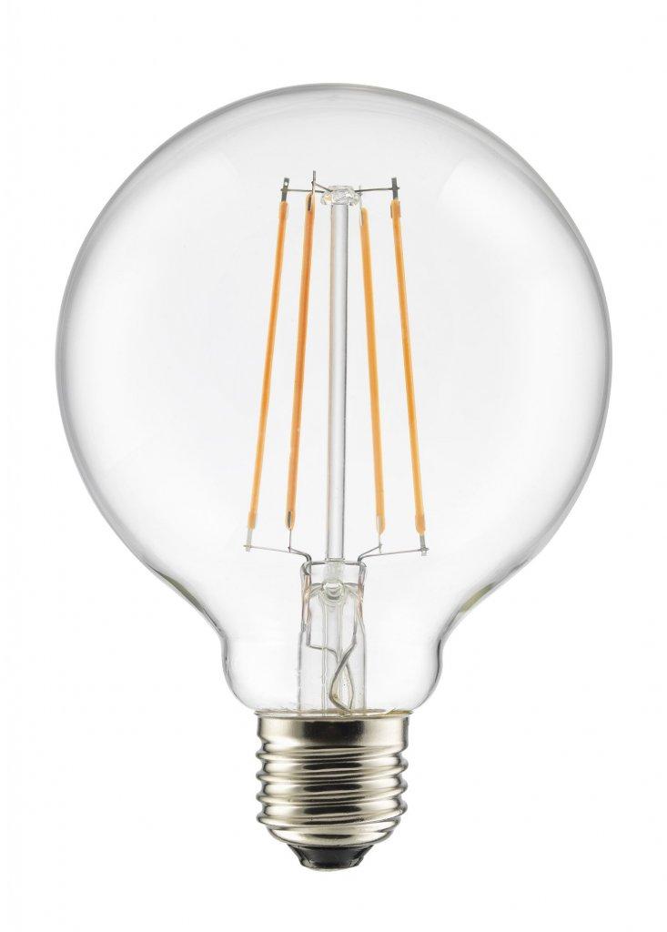 E27 Glob 95mm LED 3 stegsdimbar 7W LED lampor Lampgallerian se