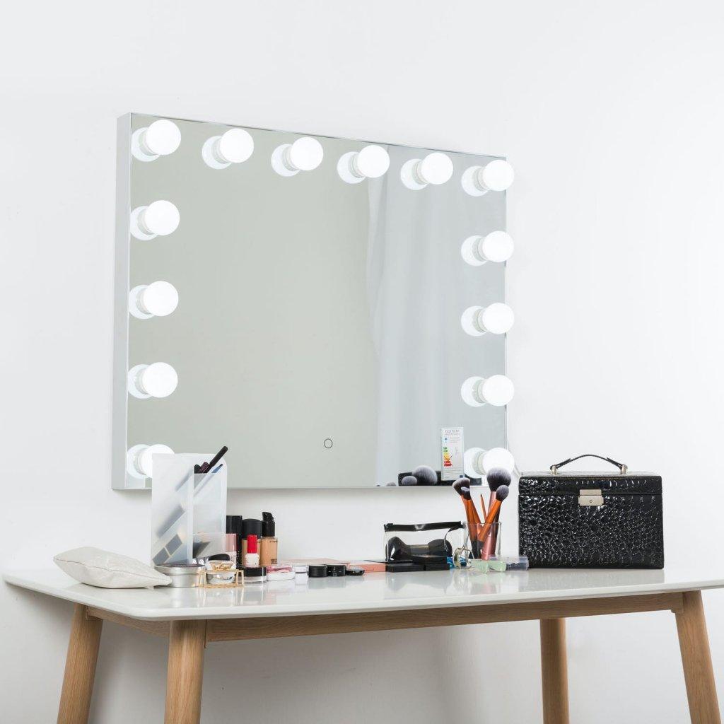 Grann sminkspegel LED (dimbar) (Vit)