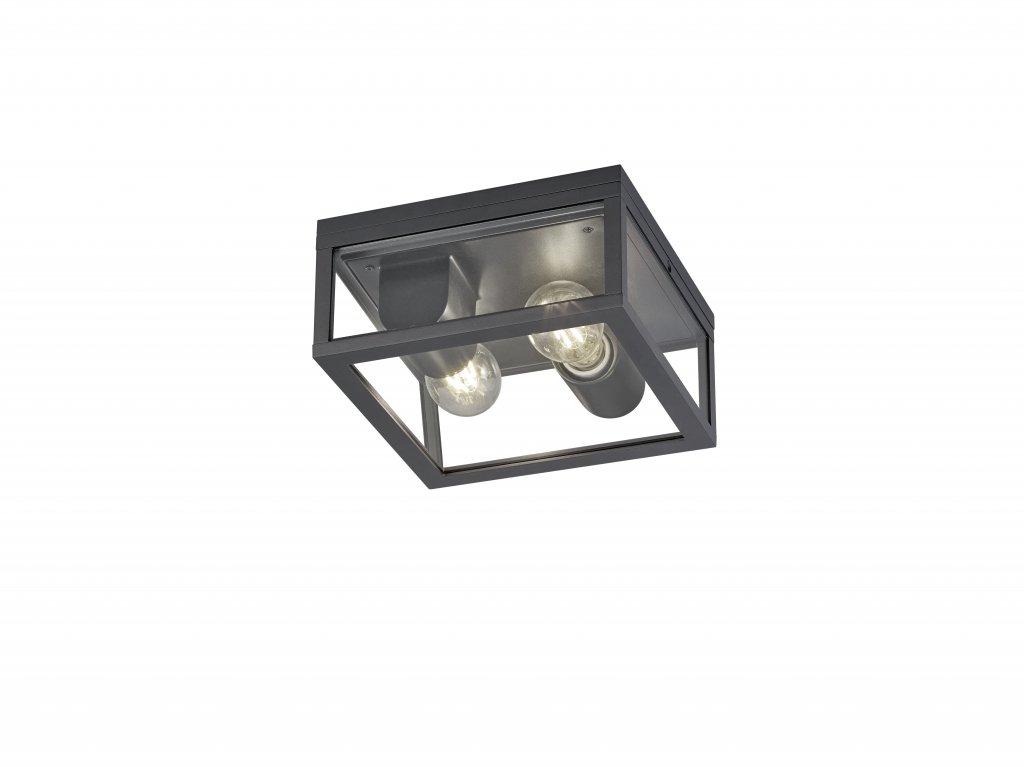 Garonne ceiling lamp zinc 2 x E27 (Antracitgrå)