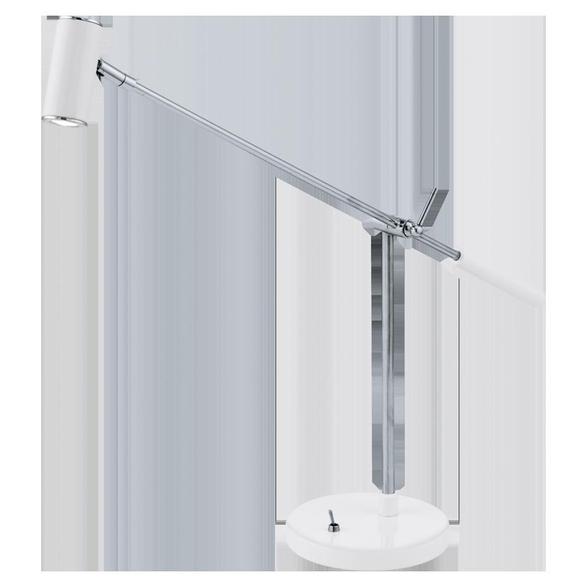 lauria 1 vit led bordslampor. Black Bedroom Furniture Sets. Home Design Ideas