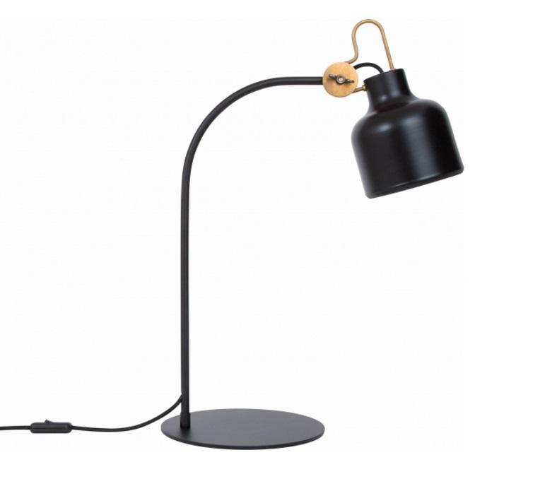 Bolb bordlampa (Svart)