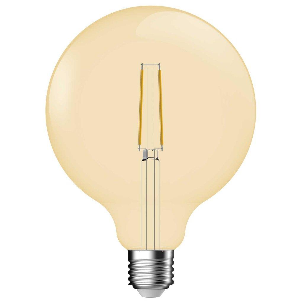 E27 Glob 125mm Amber LED 5,4W dimbar