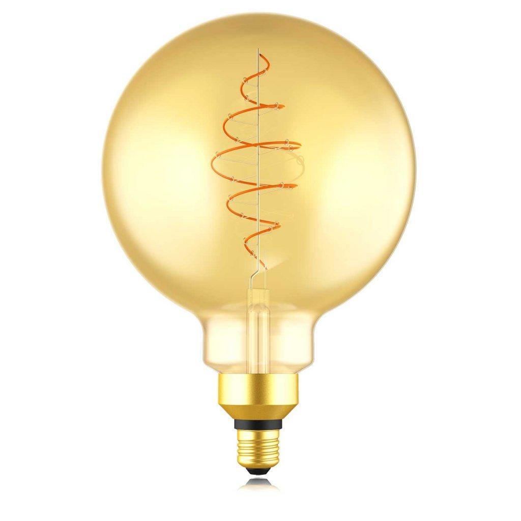 E27 XL Glob Amber LED 8,5W